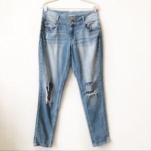 🍕 Refuge Distressed Denim Skinny Jeans
